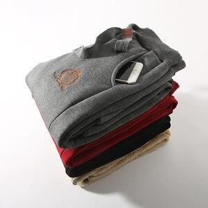Image 3 - Jvzkass 2020 zimowe spodnie bawełniane lambskin spodnie wełniane spodnie na co dzień plus aksamitne pogrubienie spodnie spodnie w dużym rozmiarze kobiety Z211