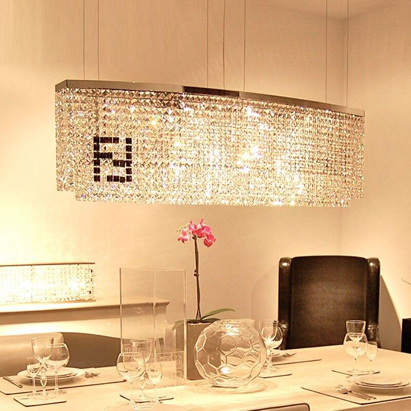 üzletház Led medál kristály Fények és világítás Téglalap - Beltéri világítás