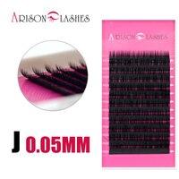 4pcs All Curl Thickness 0 05mm Black Natural Human Eyelash Cilios False Eyelashes Individual Eyelashes Extension