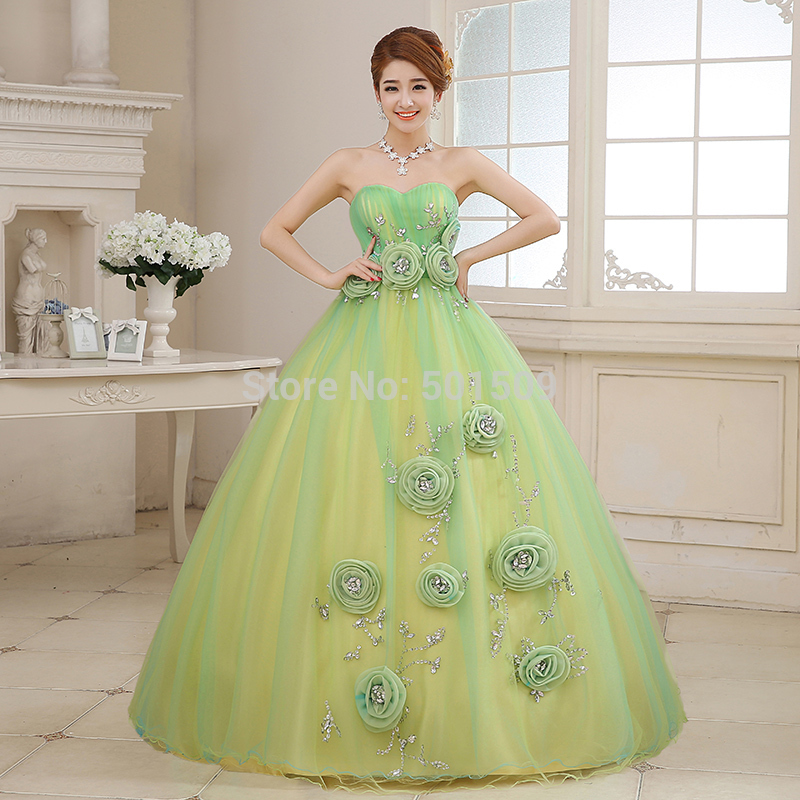 light green rhinestone bead long ball gown princess medieval dress Renaissance Victoria Antoinette/ Colonial Belle Ball