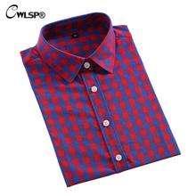 CWLSP Women's Long Sleeve Cotton Flannel Shirts Autumn Long Sleeve Turn-Down Collar Plaid Shirts Femme Plaid Blouses Ladies Tops(China)