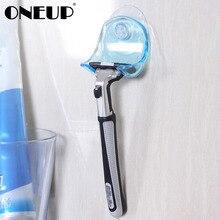 ONEUP Бритва держатель для зубных щеток Санузел настенный Присоска на присоске крюк бритва ванная комната присоска держатель стойка аксессуары для ванной комнаты
