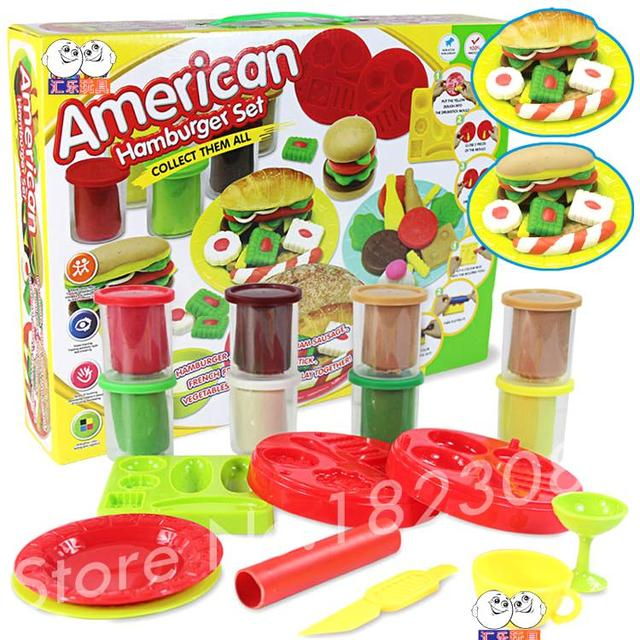 Fantastic hamburger set Starter Pack Sculpey Oven Bake Soft Polymer Clay Modelling Moulding Effect Blocks Mixed 8 Colours