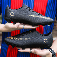 Men Football Shoes Soccer Cleats Boots Long Spikes Short Spikes Breathable Massage Men's Outdoor Shoes Sneakers Plus Size 33 49