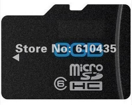 Wholesale Class 6 full capacity 8GB micro sd card brand new and original, Free adapter + Free shipping