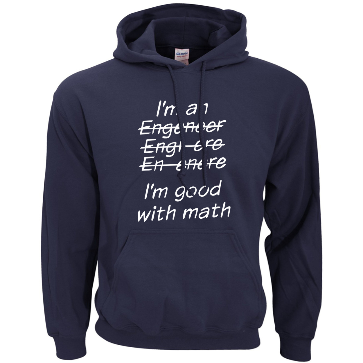 For Adult I Am An Engineer, I'm Good With Math Funny Clothing Brand Hoodies Men 2019 Autumn Winter Warm Fleece Men's Sweatshirts