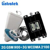 Amplificateur de Signal Lintratek GSM 900 3G 2100Mhz WCDMA répéteur de Signal 2G 3G amplificateur de téléphone portable 900 2100 GSM UMTS 65dB KW17L-GW