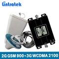 Lintratek репитер gsm 2g 3g Усилитель сигнала сотового телефона Booster 2G GSM 900 3g WCDMA 2100 МГц Сотовая Связь сигнал повторителя для МТС, Мегафон, Билайн,Tele ...