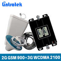 Wzmacniacz sygnału Lintratek GSM 900 3G 2100Mhz WCDMA regenerator sygnału 2G 3G wzmacniacz telefonu komórkowego 900 2100 GSM UMTS 65dB KW17L-GW