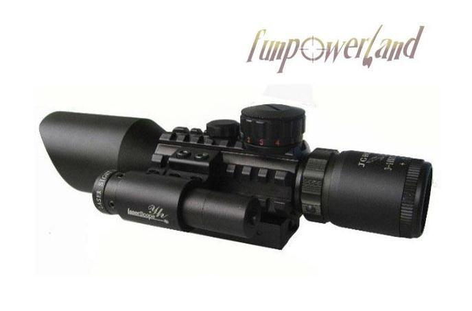 M9C 3-10X42E Mil-Dot hunting rifle scope+red laser /Tactical Optics Scopes/Riflescope 3 10x42 red laser m9b tactical rifle scope red green mil dot reticle with side mounted red laser guaranteed 100%