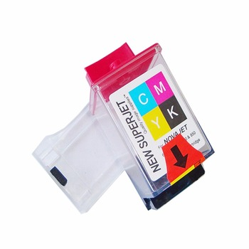 6PCS Encad novajet 750 lecai locor ink cartridge tank printhead print head CMYK 4 color for novajet 600e 630 700 750 850 printer