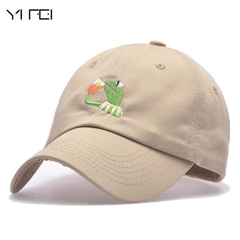 YIFEI Belababy I FEEL LIKE LEBRON Kermit Embroidery Dad Snapback Baseball Cap Meme Frog Visor Hat Gorras Casquette Cotton CAP