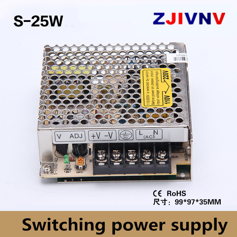 single output 25W switching power supply output 5v 5a, 15V 1.6A, 24V 1A power supply ac-dc led power supply 12v 2A, industrial grade dual power 12v 12v power supply d 60c dc dual output power supply 12v 2 5a 12v 2 5a 100 240v