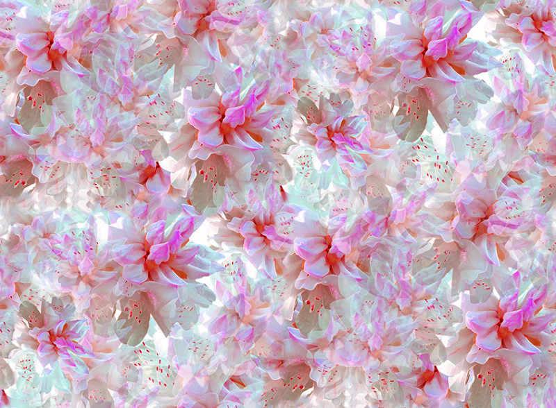 Telas качество розовые цветы принтами 97% шелковая ткань «Mulberry» из эластичной сатиновой ткани, цветные ткани летняя ткани высокой моды tissus Австралийский метр