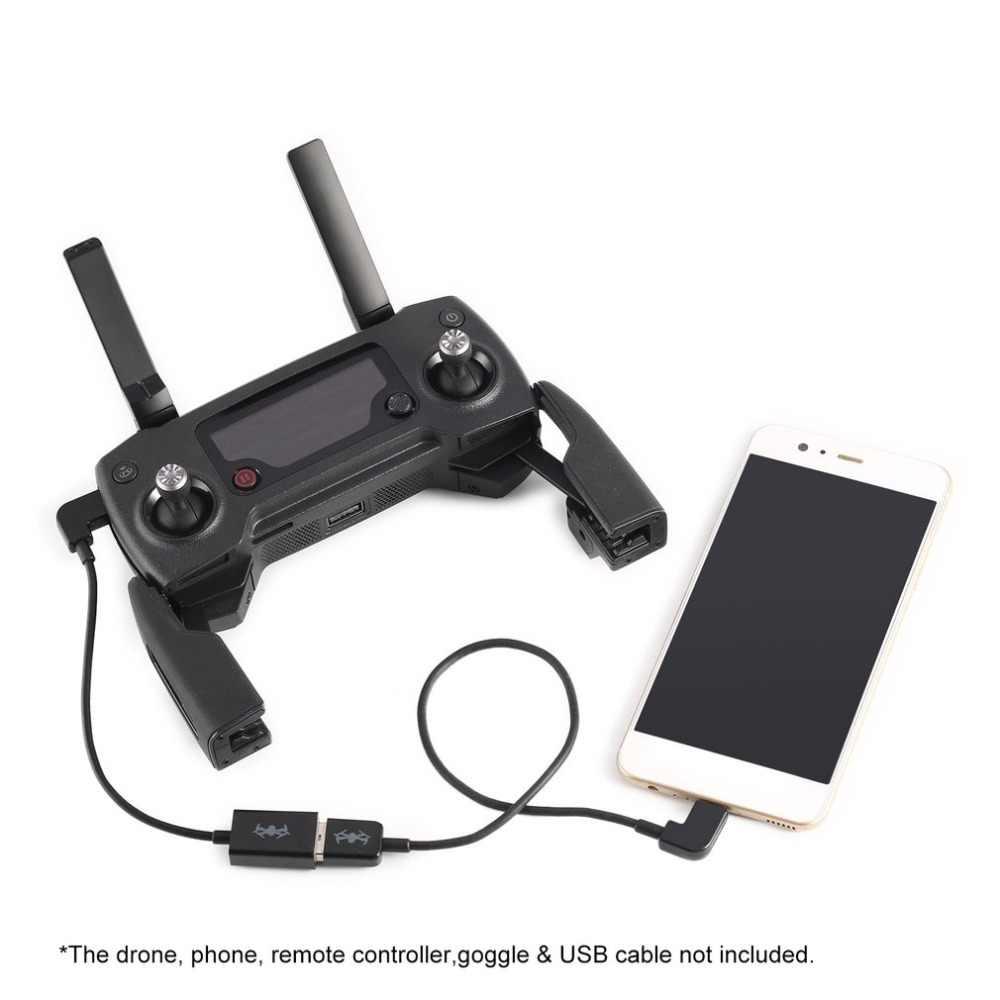 17 CM adaptador USB OTG Cable USB OTG para DJI Mavic Pro aire Spark RC FPV Drone controlador remoto y goggle