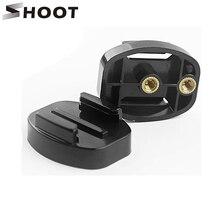 Atirar placa de liberação rápida tripé suporte base de montagem para gopro hero 9 8 7 6 5 preto sj4000 xiaomi yi 4k câmera com 1/4 polegadas porcas