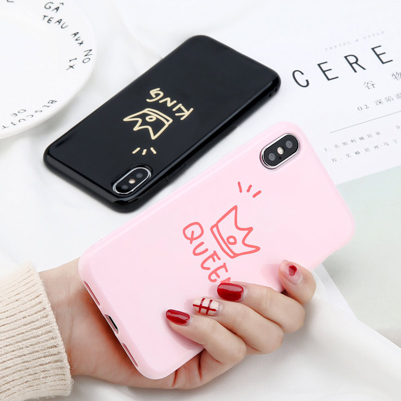 Glossy Crown Phone Case For iPhone 6, 6s Plus, iPhonee X, 8, 7, 6S 3