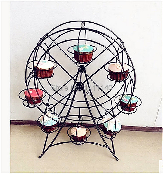 Baking Tools New Ferris Wheel Rotating Cake Stand 8 Cups Wedding