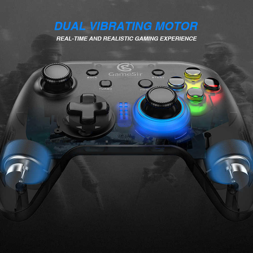 GameSir T4w USB Wired Controller Support Vibration USB Wired Gaming Gamepad  for Windows (7/8/9/10) PC Android TV BOX PC Gamer
