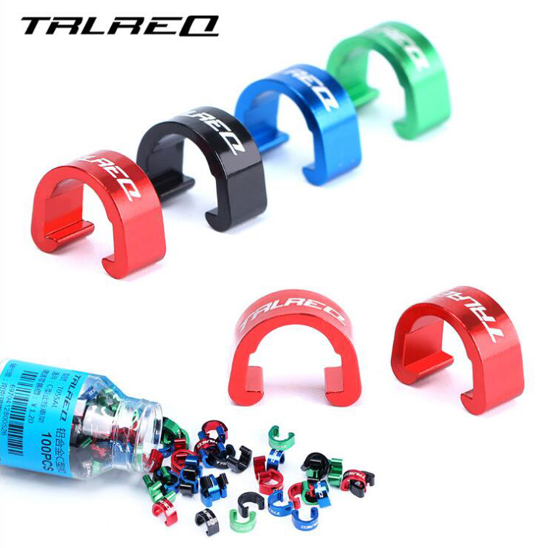 10pcs Cycling Bike Brake Cable Guides Clips Bicycles Gear Shift Line ...