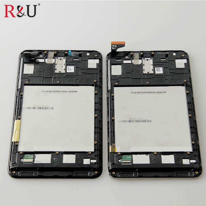 used parts LCD display & touch screen with frame Digitizer assembly Replacement for Asus Memo pad7 ME176 ME176C ME176CX k013 new 8 inch for asus memo pad 8 me180 me180a digitizer touch screen with lcd display assembly frame