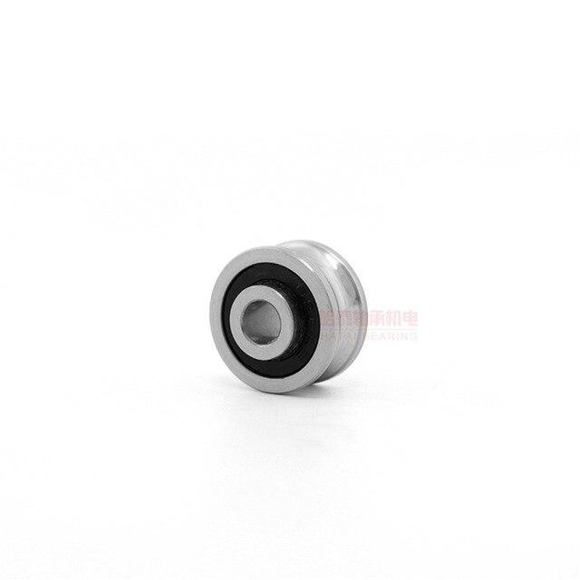 10pcs SG10 SG15 SG66 SG20 SG25 U Groove Sealed Ball Bearing Roller Pulley Bearings Guide Bearing For Spinner