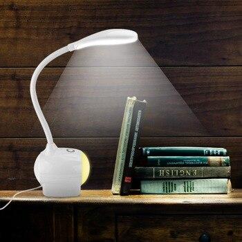 Портативный USB настольная лампа светодио дный настольная лампа Регулировка настольная лампа яркость Светодиодные светодио дный настольны...