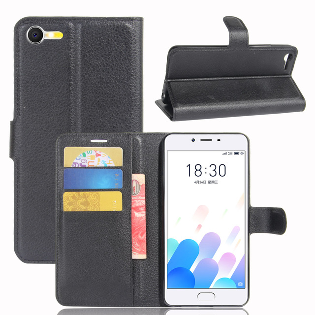 vbnm litchi grain cases for meizu e2 case small wallet card package shell business classic capa - Shell Small Business Card
