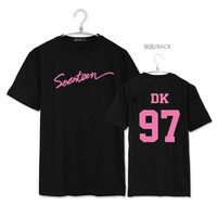HPEIYPEI KPOP SEVENTEEN Japan Osaka Concert Album Shirts K POP Casual Cotton Clothes Tshirt T Shirt