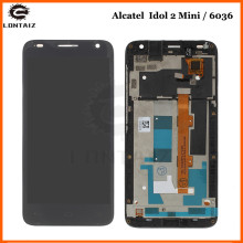 100% Tested New for Alcatel One Touch Idol 2 Mini S OT6036 6036 LCD Display with Touch Screen Digitizer Assembly with Frame lcd screen display touch panel digitizer with frame for alcatel one touch idol 3 6045 ot6045 black color free shipping