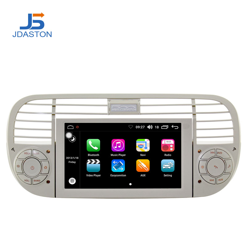 JDASTON 1 Din Android 8.0 Car Radio For Fiat 500 Abarth 2007 2008 2009-2015 Multimedia GPS Navigation Canbus Autoaudio Stereo image