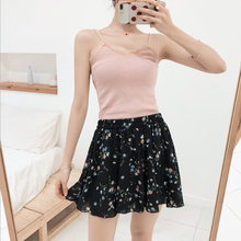 Summer new style Casual large size high waist loose wide leg shorts Loose printed chiffon culottes