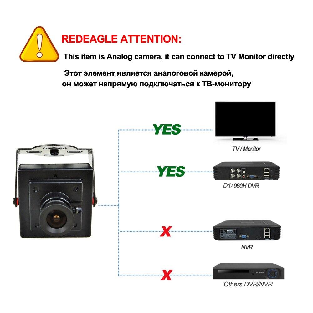 Image 5 - Redeagle 700tvl cmos prendido mini caixa cvbs cctv câmera de  segurança com corpo de metal 3.6mm 2.8mm 6mm lente opcionalCâmeras de  vigilância