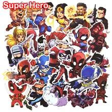50 st Super Hero Cool Stickers för bärbar bil Styling Telefon Cyklar Bagage Motorcykel Vinyl Dekaler PVC DIY Vattentät Klistermärke