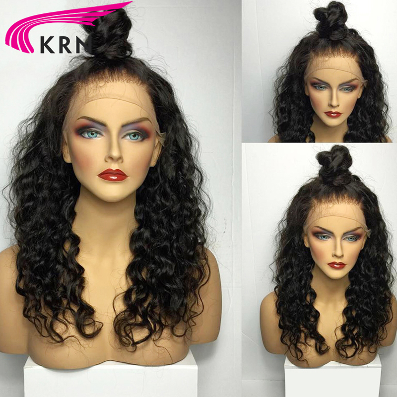 150 Density Pre Plucked Lace Front Human Hair Wigs With Baby Hair Full Remy Hair Curly Brazilian Lace Front Wigs KRN Hair