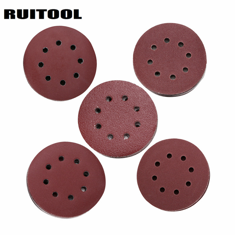 5/125mm Sandpaper Sanding Disc 60/80/120/180/240 Grit Abrasive Paper For Wood Metal Polishing Grinder Power Tools 100pcs 5 sheets sandpaper waterproof abrasive paper sand paper 1xgrit 600 2x1000 1x1500 1x2000 silicone carbide grinding polish tool