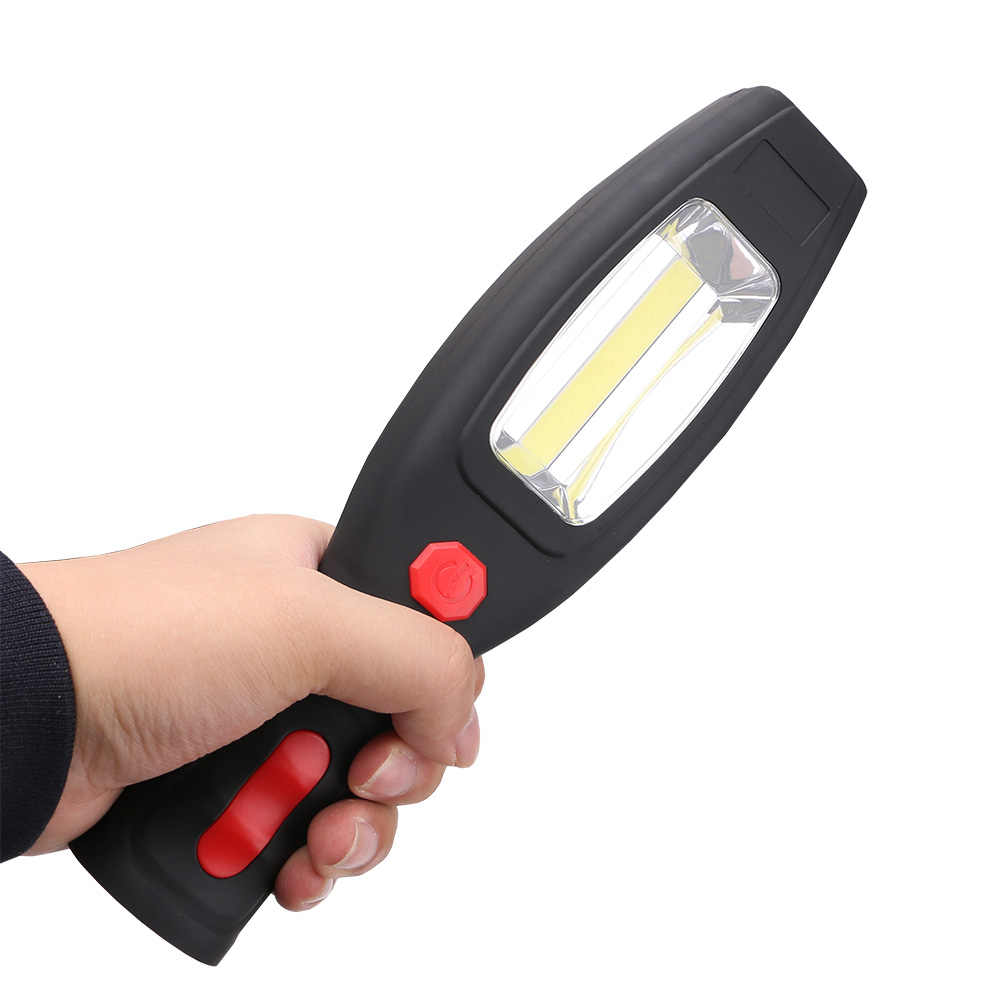 Powerful Portable 2000 Lumens COB LED Work Flashlight Magnetic Rechargeable Work Light 360 Degree Swivel Hanging Torch Lamp