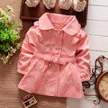 Spring Autumn Baby Coat Outwear Kids Outerwear Clothes Girl Lapel Solid Print Cardigan Coat Children Windbreaker Infant Jacket