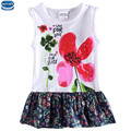 novatx H6492  dress new design girl dress summer sleeveless printed flowers and letter girl dress children clothes hot sale