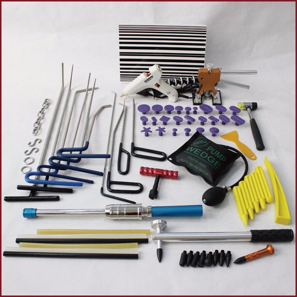 Ferramentas de pdr dent extrator levantador slide hammer ferramentas manuais ferramentas de remoção paintless dente puxadores cola varas ganchos s anel cadeia tapdown