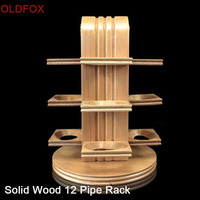 Peterson Rotation Type Tobacco Pipe Racks Solid Wood High class Men Smoking Tools 12 Pipe Stand for Collection or Gifts fa0056bs