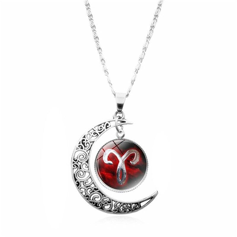 Aliexpress Com Buy 12 Zodiac Signs Constellation: Women Pendant Necklace Galaxy Constellation Design 12