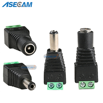 цена на 20PCS 12V 2.1*5.5mm DC Power Male Plug Jack Adapter Connector Plug Female Plug for CCTV Security Camera Accessories LED Light