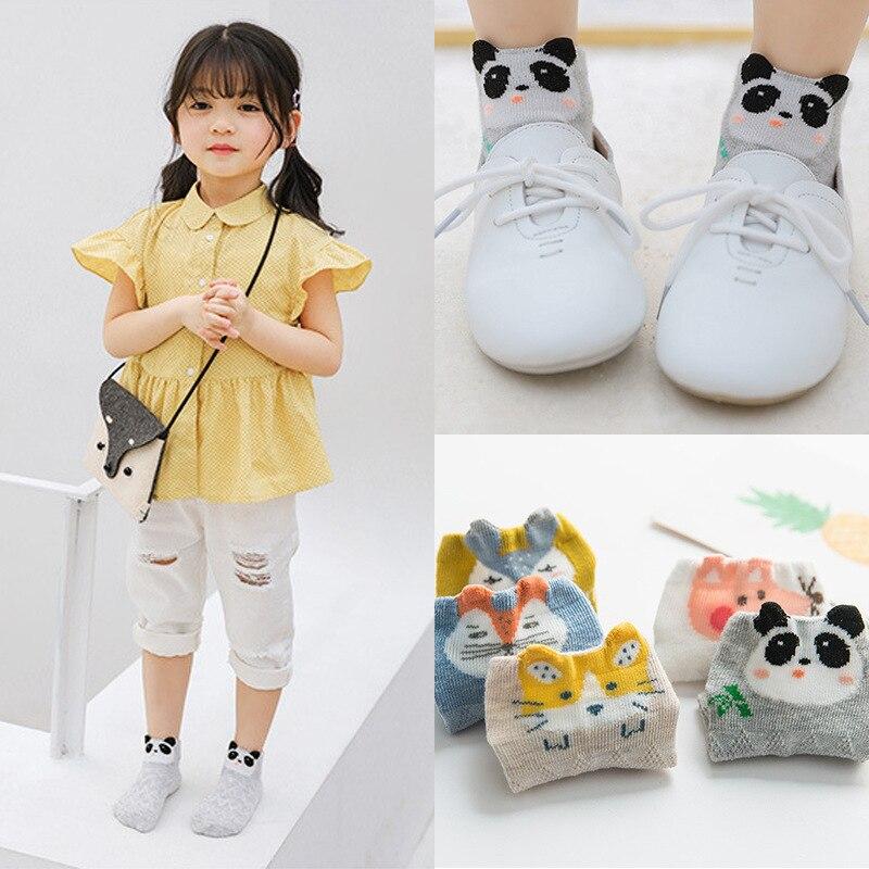 SET 6605SX Neue Cartoon kinder Socken, Glas Filament Air-durchlässigen Boot Socken, Kurze Barrel Baby