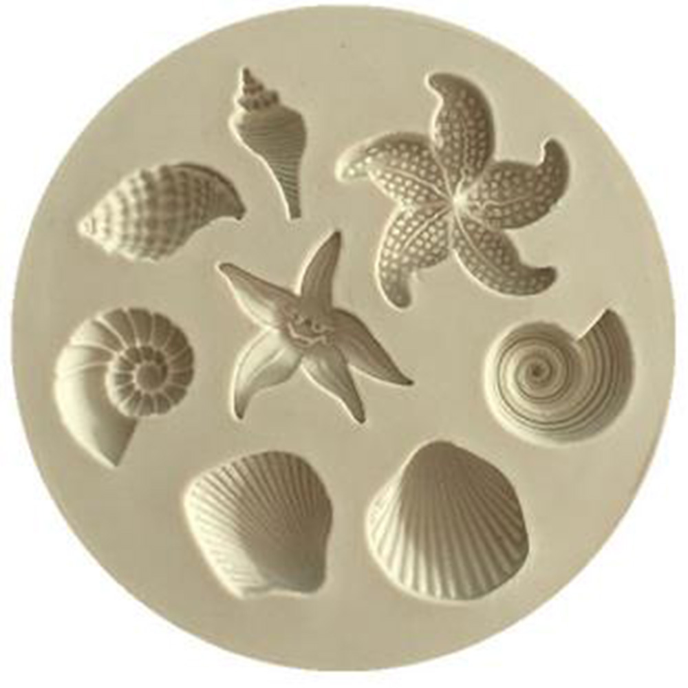 Cake Decorating Tools DIY Sea Creatures Conch Starfish Shell Fondant Cake Candy Silicone Molds Creative DIY Chocolate Mold