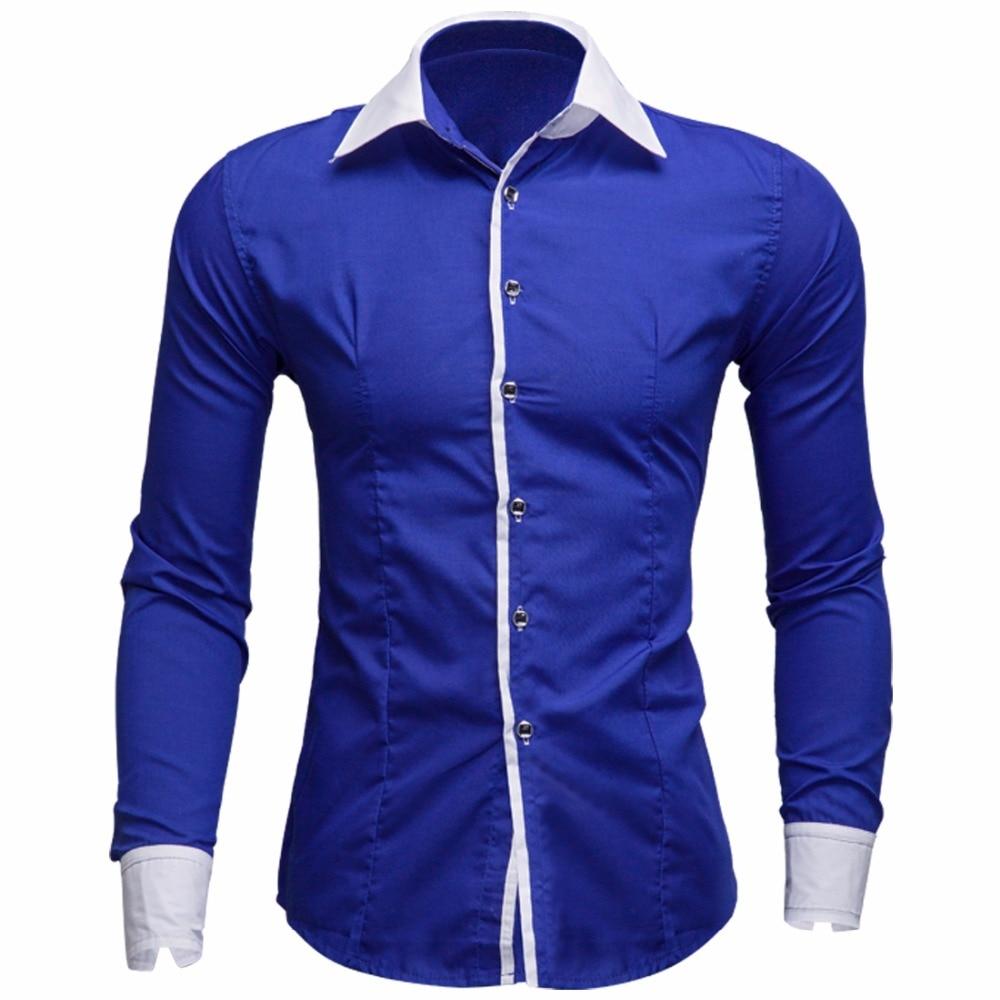 Shirt design of man - High Quality 2017 New British Design Men Striped Shirt Autumn Fashion Mens Long Sleeve Dress Shirts