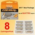 8 cartridges/pack 2017 New Original SHICK Genuine Quattro 4 Manual razor blades for all Quattro series Razor manual replacement