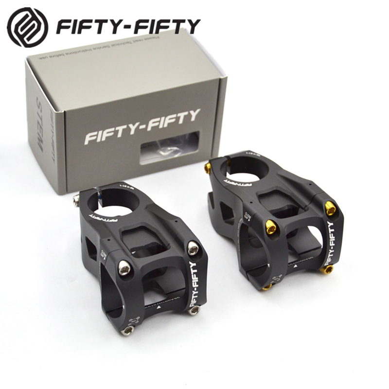 FIFTY-FIFTY Aluminum Alloy Mountain Bike Stem For 1-1/8 Steer Tube 31.8mm Handlebar fifty shades darker
