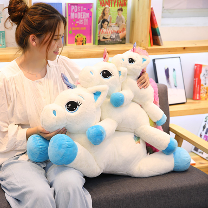 60cm Kawaii Unicorn Stuffed Animals Soft Plush Doll Cartoon Unicorn Animal Horse Birthday Gift Toys for children Kids