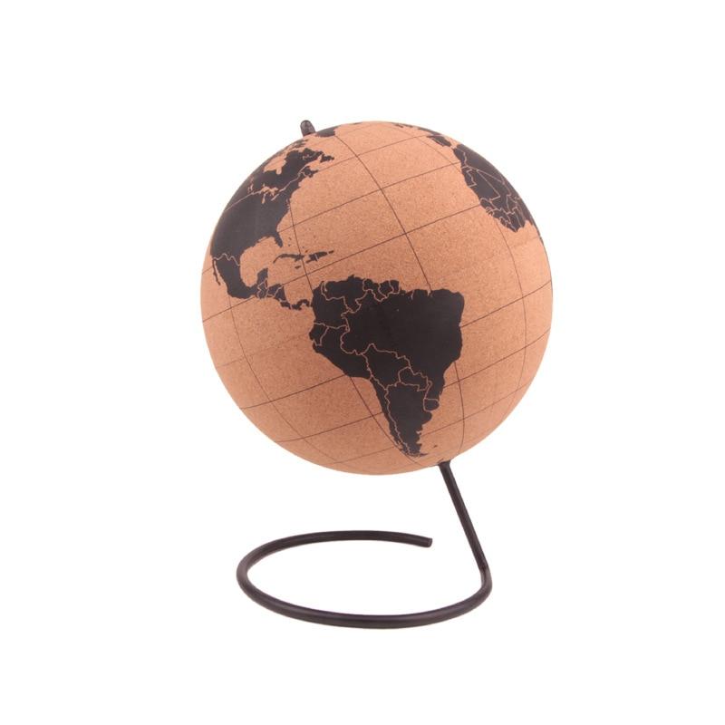 Mantar Ahşap Tellurion Küre Harita Küre ev ofis dekorasyonu Dünya Haritası Şişme Eğitim Coğrafya Haritası Balon Dünya Modeli|Heykelcikler ve Minyatürler|   -